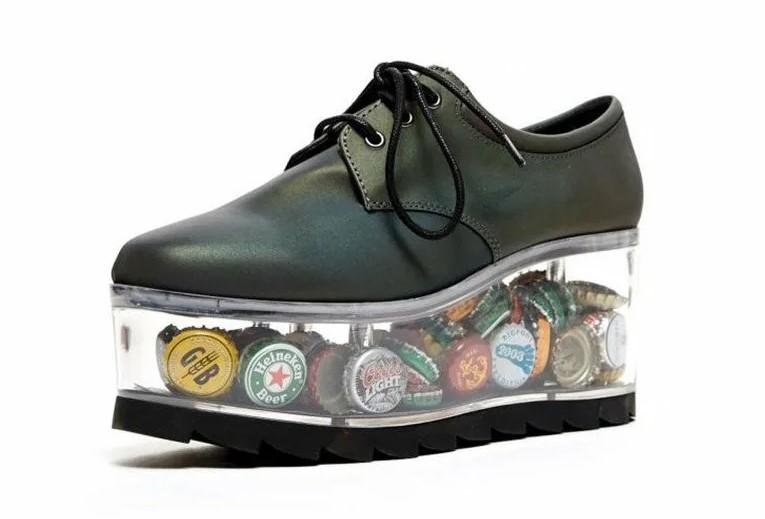 Обувь с прозрачной подошвой