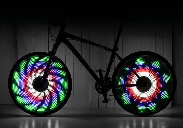Светильник для велосипедного колеса