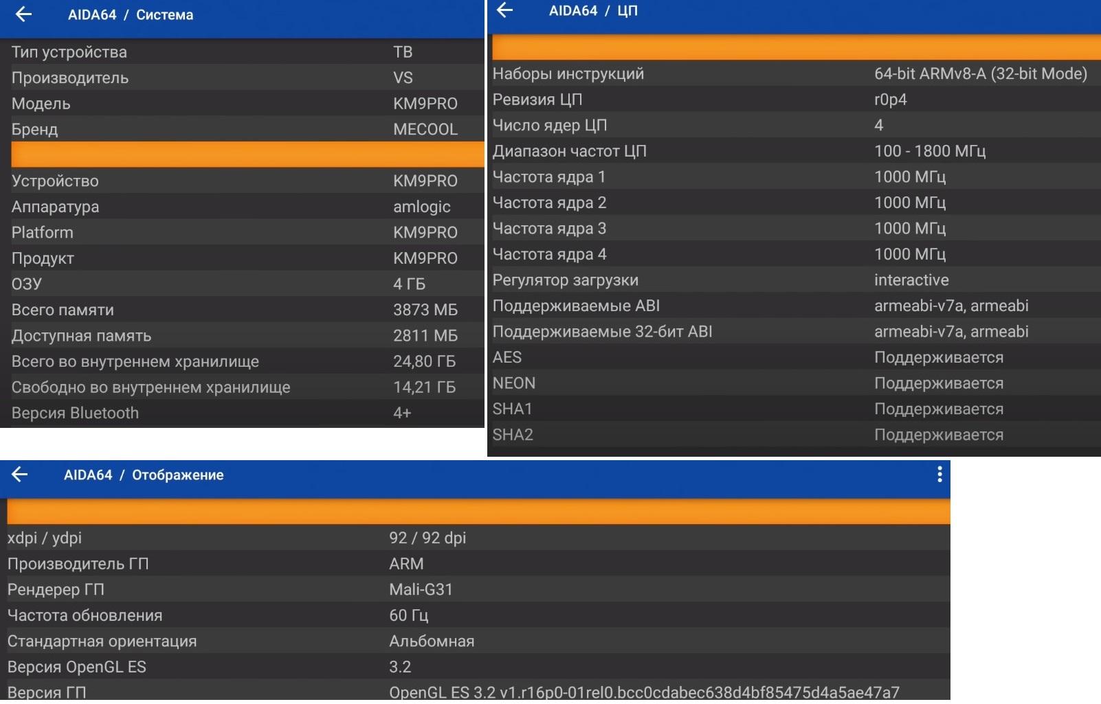 AIDA64-km9 pro графики