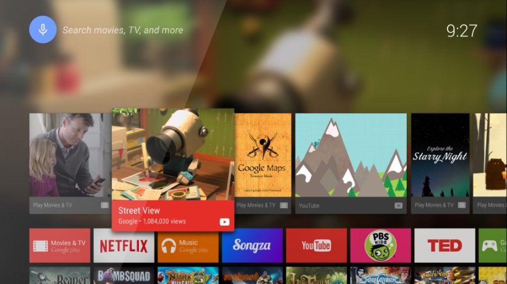 Android TV Launcher пример