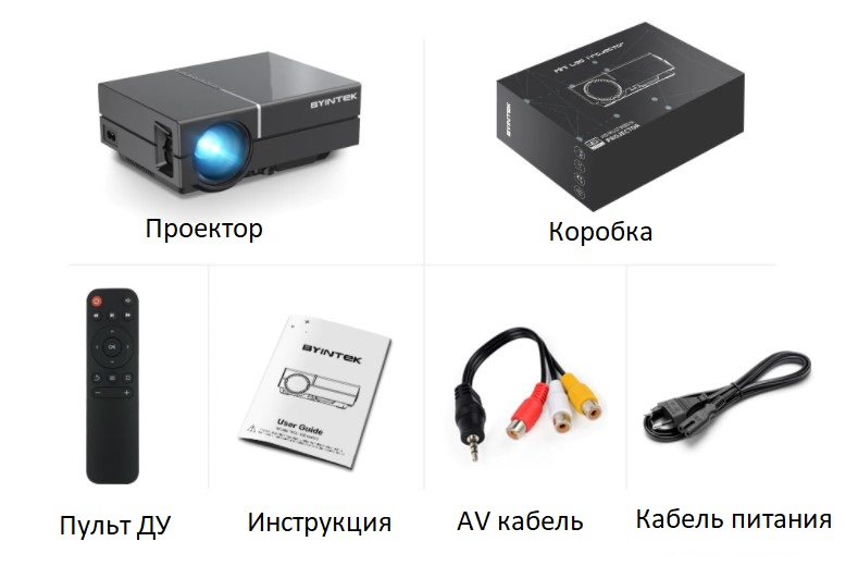 BYINTEK K8 комплект(1)
